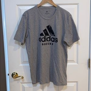 Adidas Soccer Men's Grey Tee Shirt XL EUC